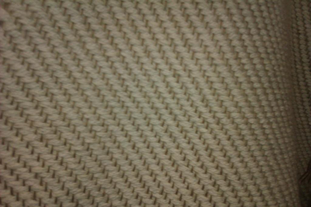 Detalle del tejido en Sarga