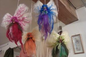 Hadas de vellon de lana merina y seda